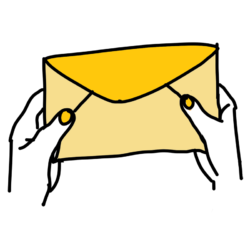 Hände halten einen Brief