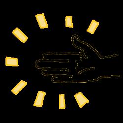 Jede Hand kann unterstützen