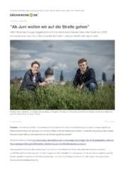 Artikel über DresdenZero bei Sächsische.de
