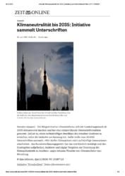 Artikel über DresdenZero bei Zeit online